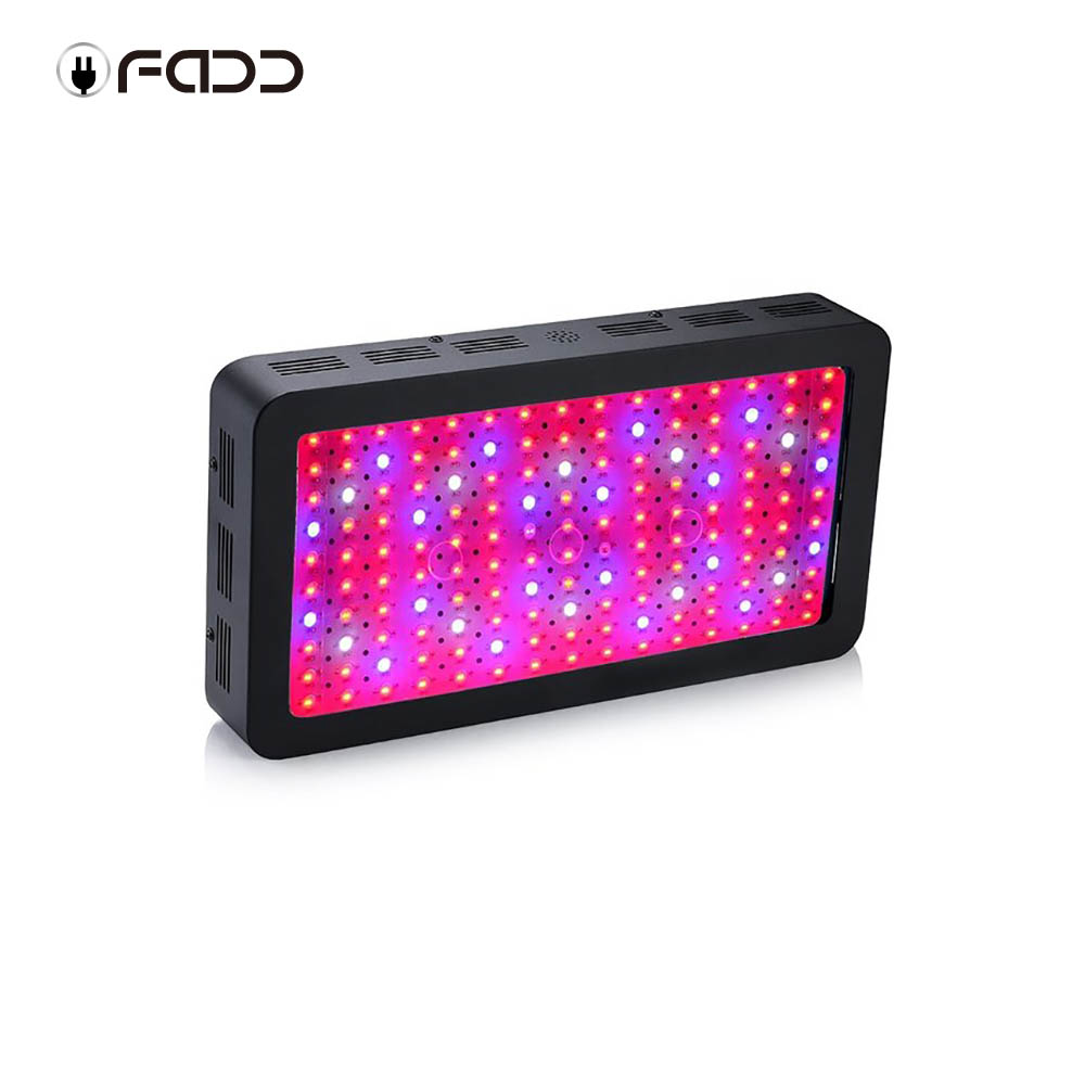 OFADD LED 1500W Double Chips Black LED Grow Light Full Spectrum 410-730nm For Indoor Plants and Flower Phrase Very High Yield