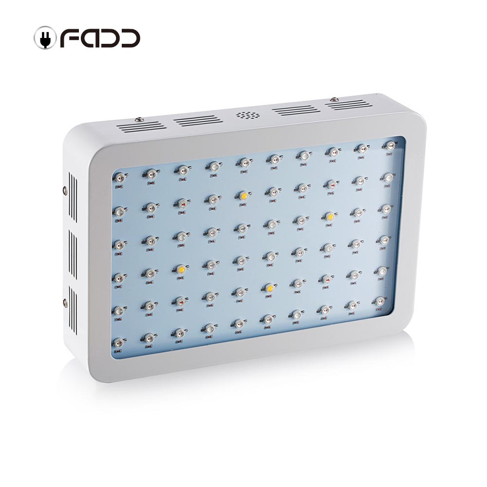 OFADD 600W (Double Chips 10W LEDs) LED Grow Light Full Spectrum IR, UV, RED, BLUE, ORANGE, WHITE For Indoor Plants Growing