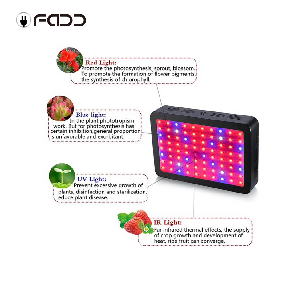 OFADD LED 800W Double Chips 410-730nm LED Grow Light Full Spectrum For Indoor Plants and Flower Phrase led Lights For Growing