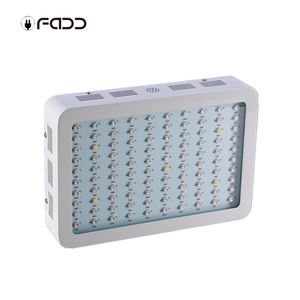 OFADD 1000W (Double Chips 10W LEDs) LED Grow Light Full Spectrum IR, UV, RED, BLUE, ORANGE, WHITE For Indoor Plants Growing