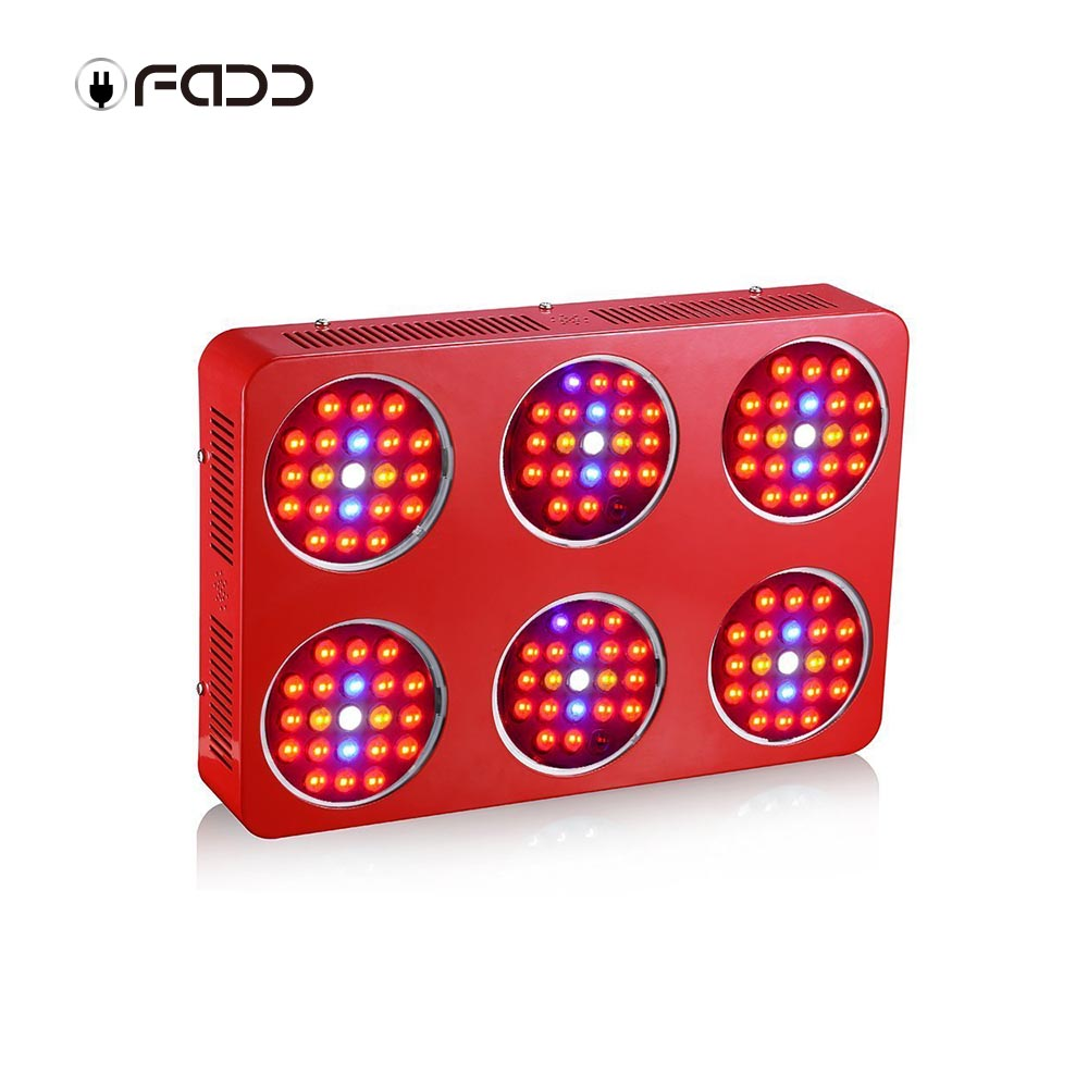OFADD 1260W (Double Chips 10W LED) LED Grow Light Sunlight Full Spectrum 380-730nm Armed With Integrated Power Lens, Designed For Indoor Plants Vegetative and Flower Phrase ,Very High Yield