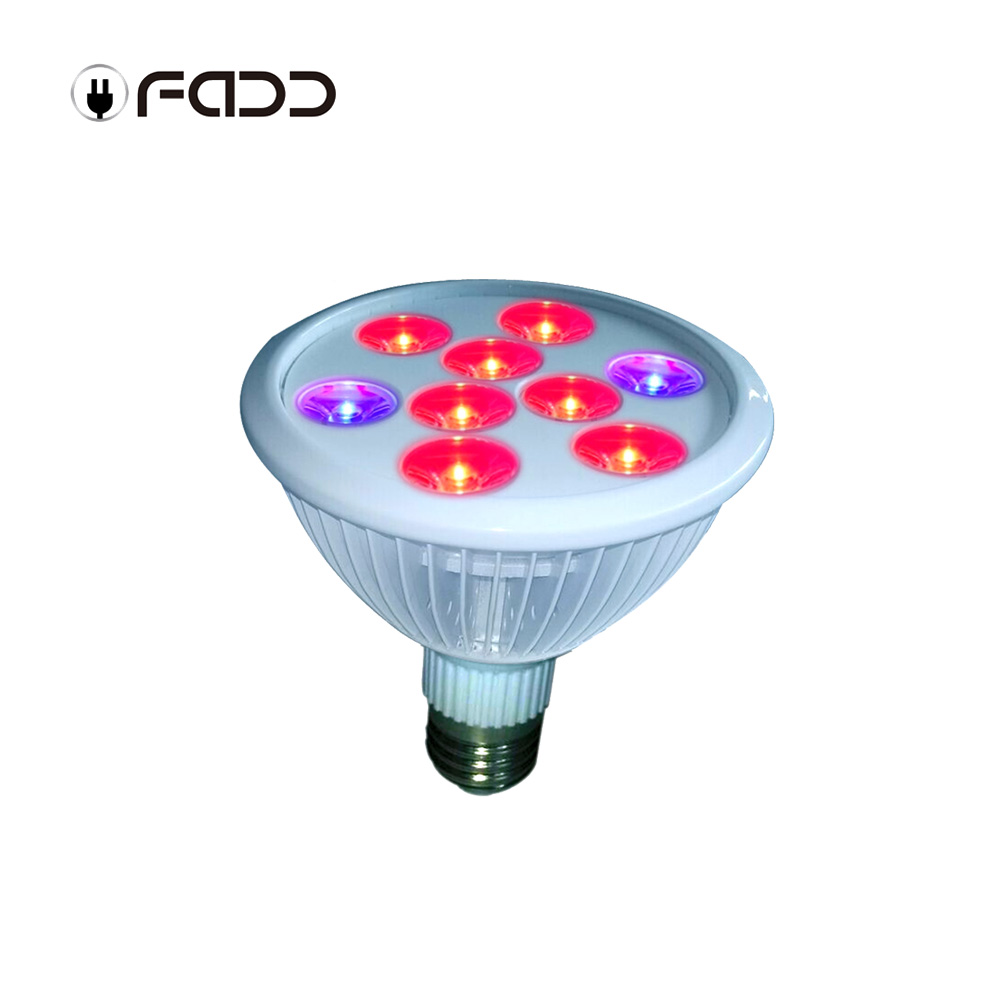 OFADD AC85-265V 9W 2blue 7red E27 LED plant grow Light high yield Water culture shed LED Greenhouse Light