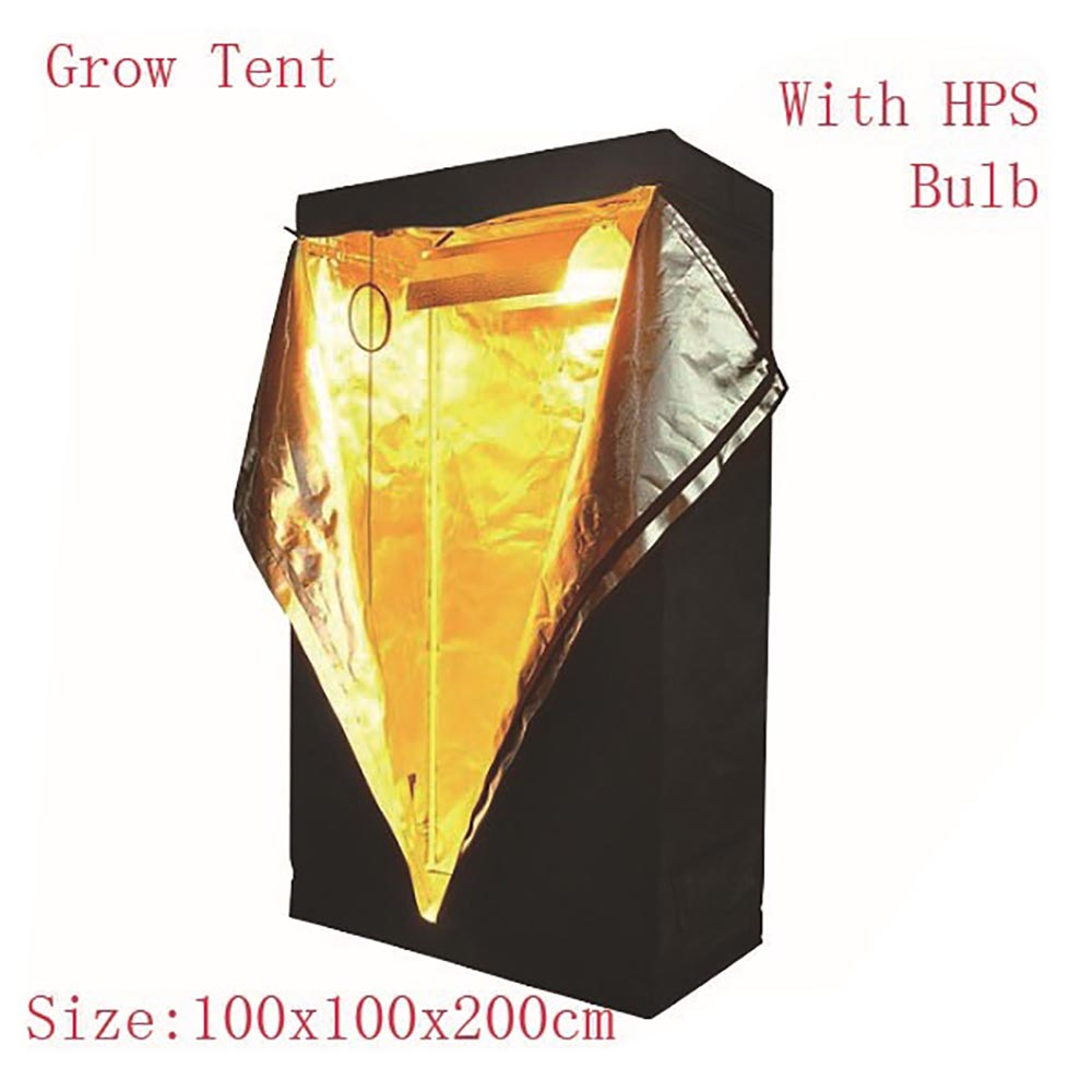 first choice Cultivating type greenhouse grow tent indoor black color indoor grow tent 100x100x200cm